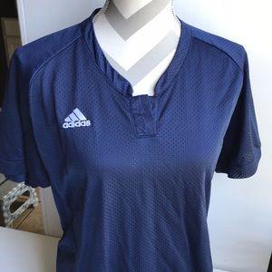 "Adidas Performance Button Jersey ""dress"" Top"